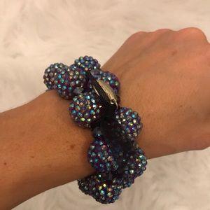 Cara New York Purple iridescent bead bracelets